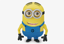 Despicable Me 2™ Special Feature Minion Dave Talking Action Figure